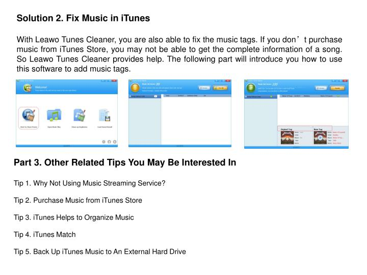 Solution 2. Fix Music in iTunes