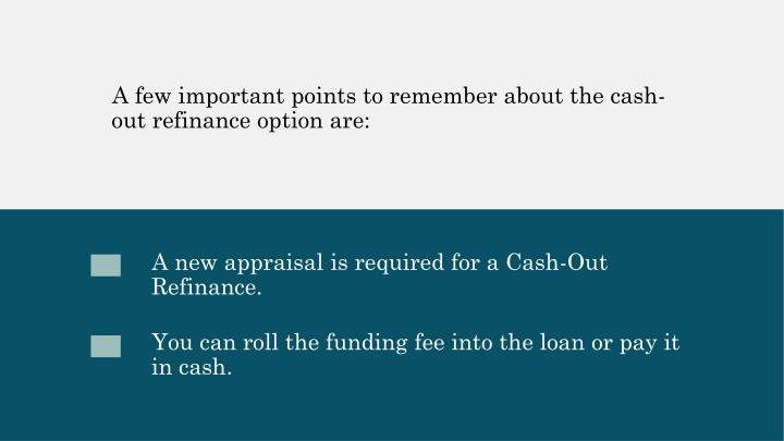 A few important points to remember about the cash-