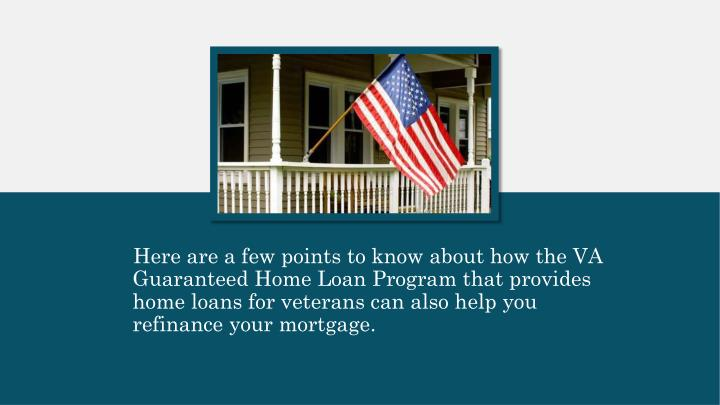 Here are a few points to know about how the VA
