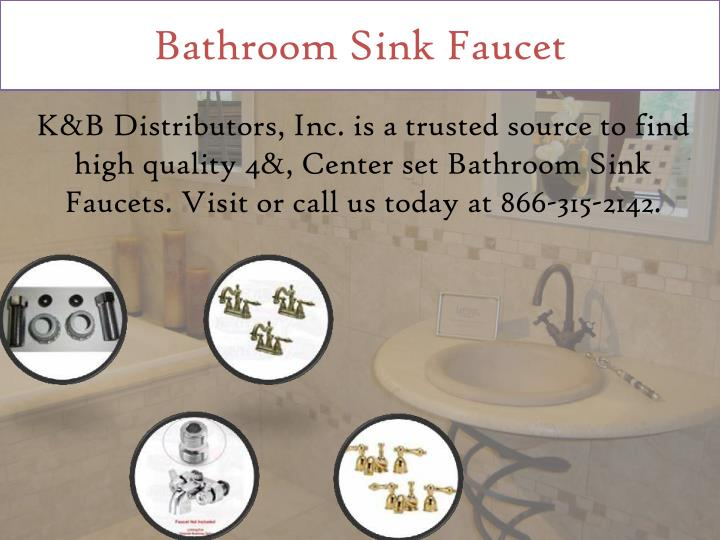 Ppt Bathroom Sink Faucets Powerpoint Presentation Id