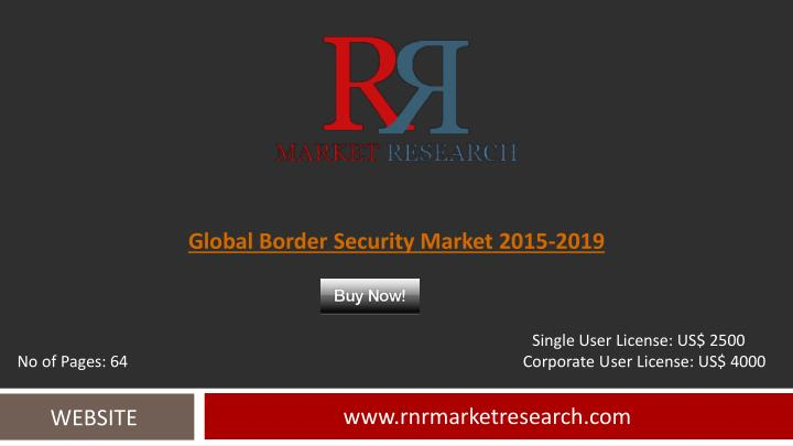 Global border security market 2015 2019