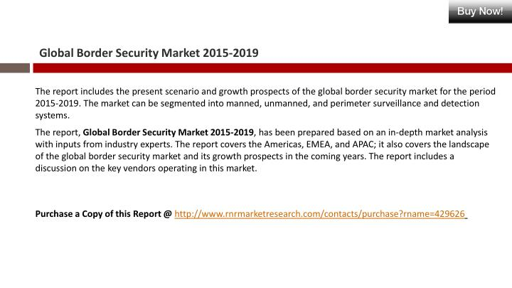 Global border security market 2015 20192