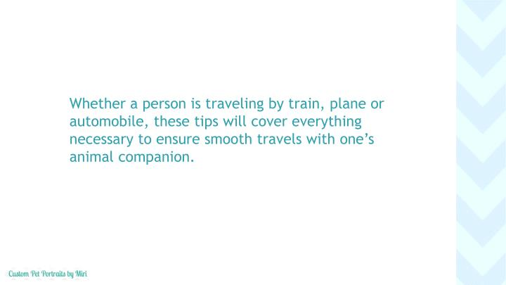 Whether a person is traveling by train, plane or