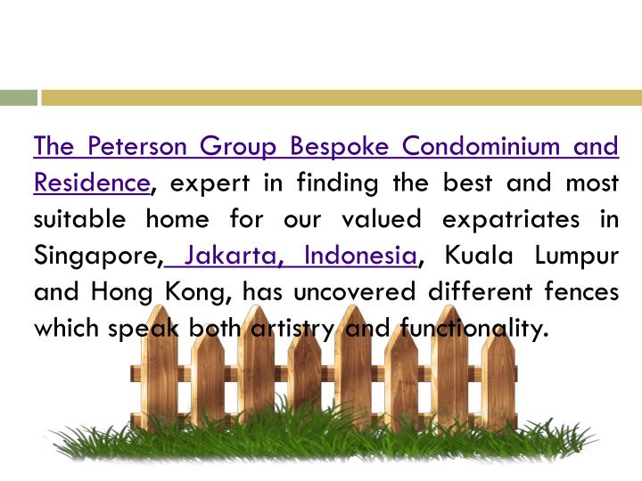 The Peterson Group Bespoke Condominium and Residence