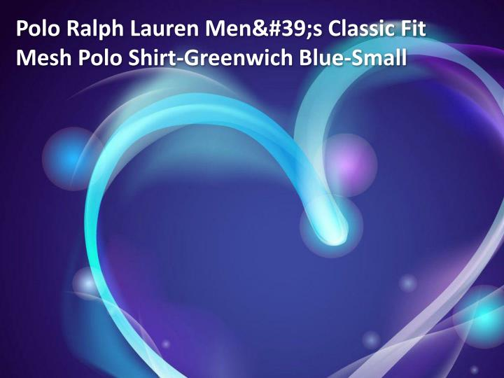 Polo Ralph Lauren Men's Classic Fit Mesh Polo Shirt-Greenwich Blue-Small