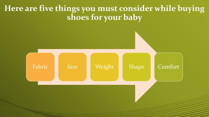 Here are five things you must consider while buying shoes for your baby