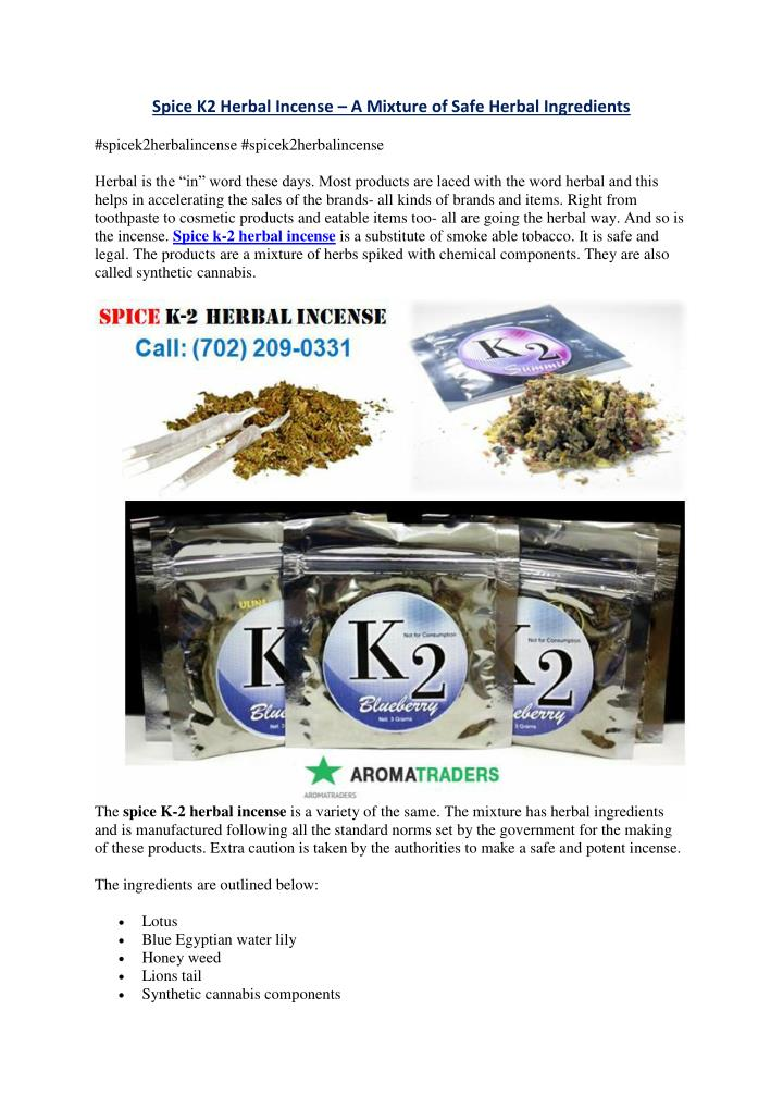 Spice K2 Herbal Incense