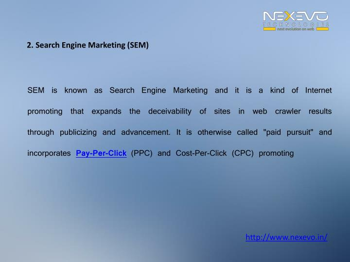 2. Search Engine Marketing (SEM)
