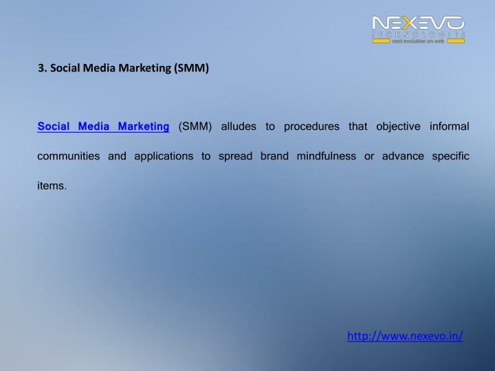 3. Social Media Marketing (SMM)