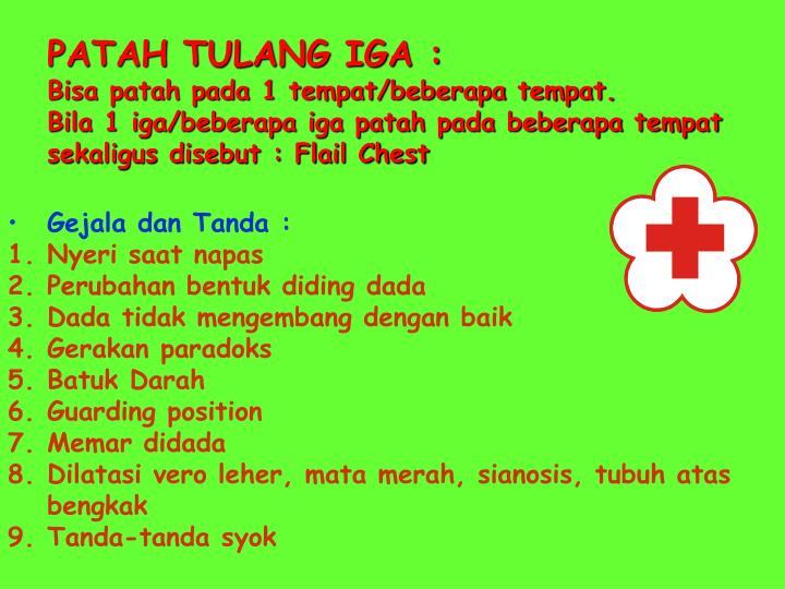 PATAH TULANG IGA :