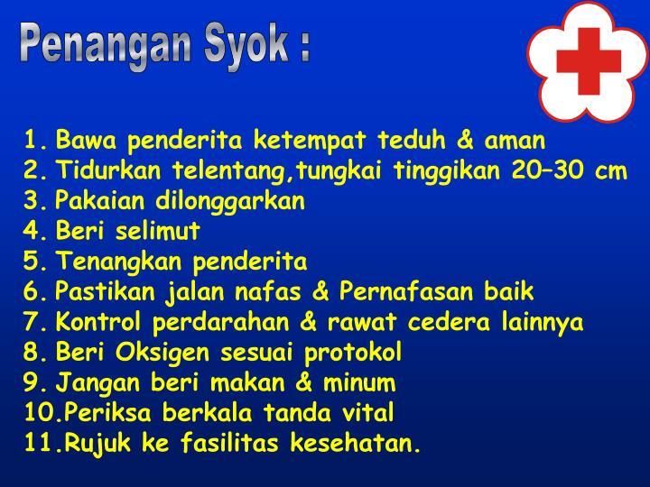 Penangan Syok :