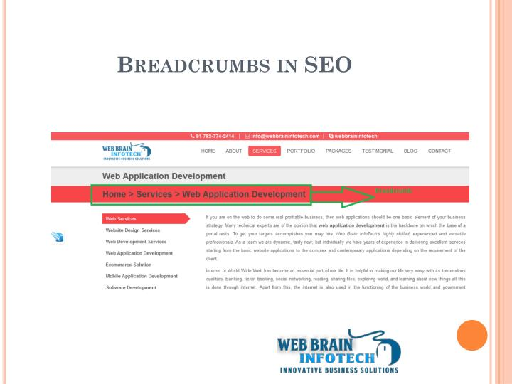 Breadcrumbs in SEO