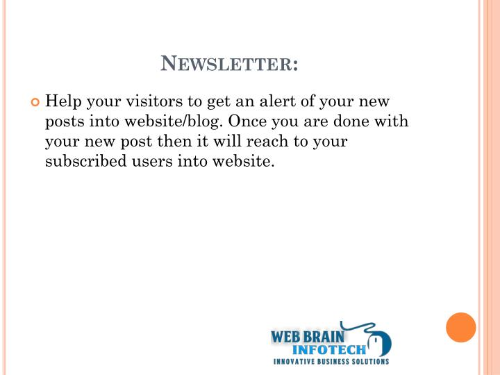 Newsletter: