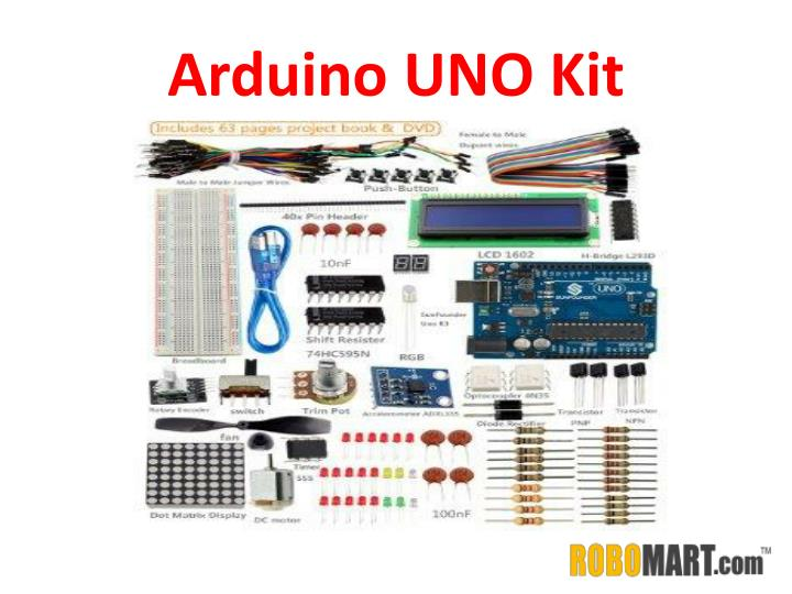 Ppt arduino uno kit price by robomart powerpoint