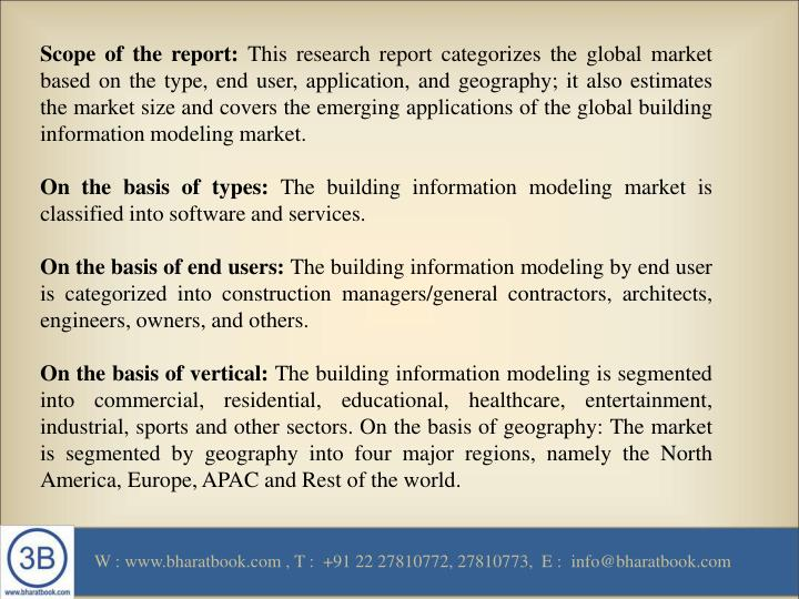 Scope of the report: