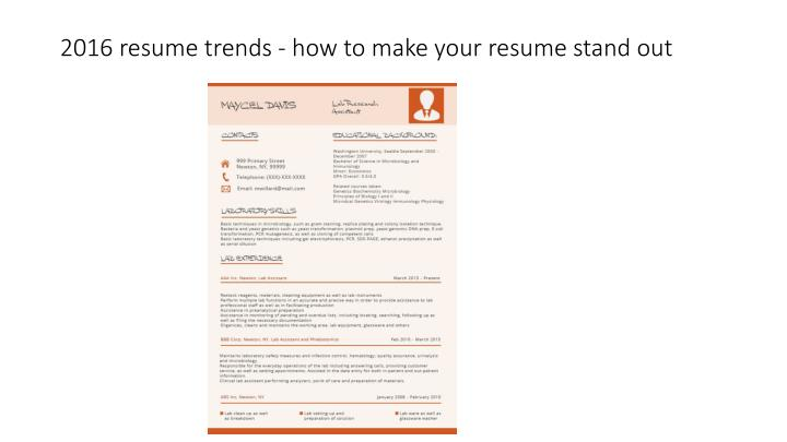 ppt 2016 resume trends how to make your resume stand