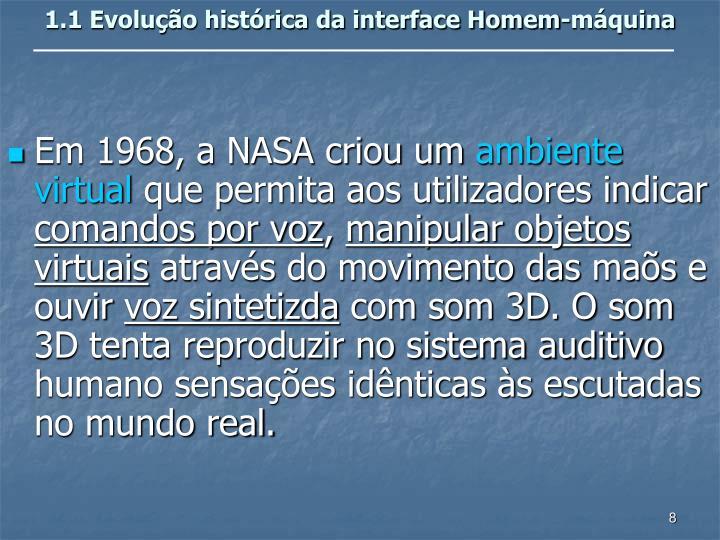 1.1 Evolução histórica da interface Homem-máquina