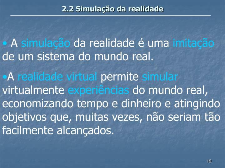 2.2 Simulação da realidade