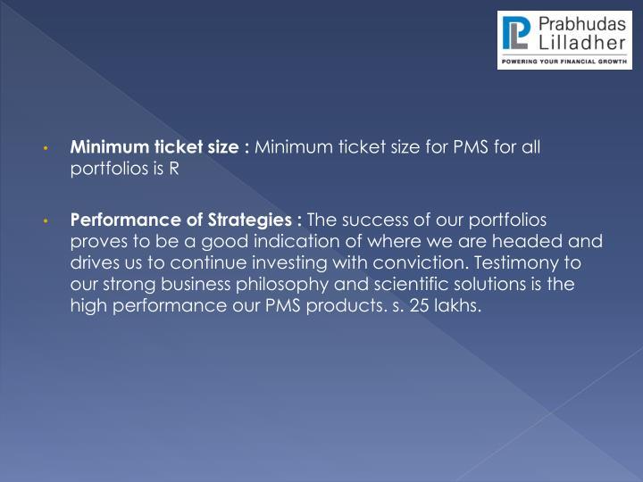 Minimum ticket size :