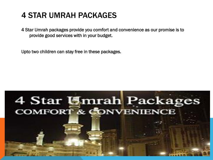 4 star umrah packages