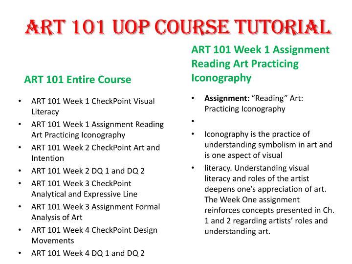 Art 101 axia week 1 assignment