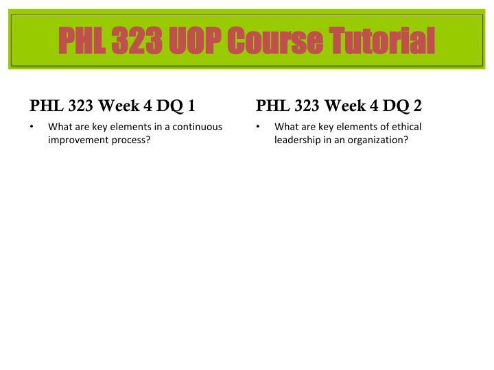 PHL 323 Week 4 DQ 1