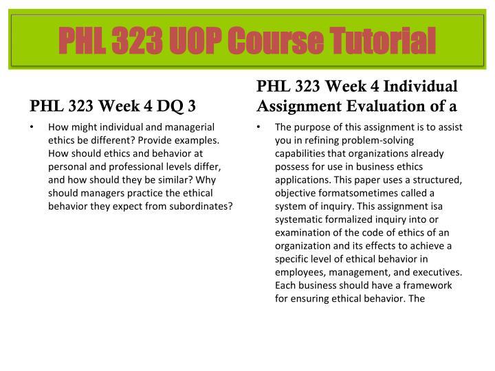 PHL 323 Week 4 DQ 3