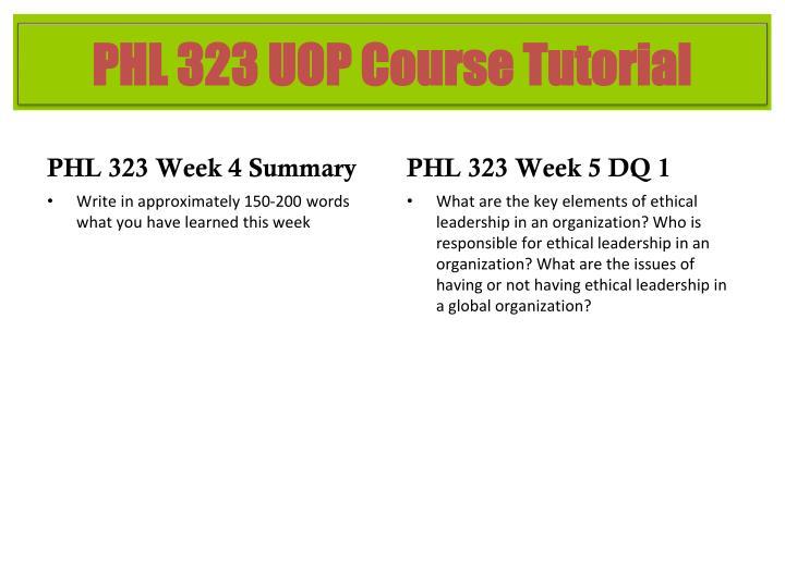 PHL 323 Week 4 Summary