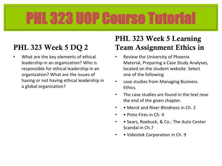 PHL 323 Week 5 DQ 2