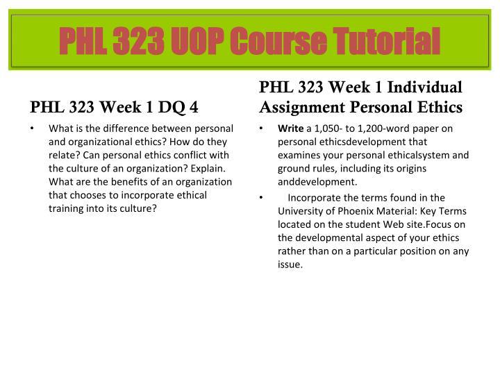PHL 323 Week 1 DQ 4