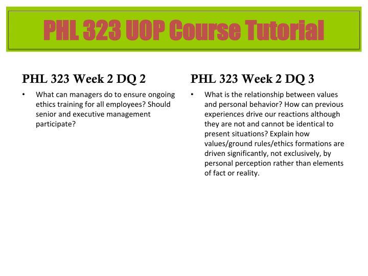 PHL 323 Week 2 DQ 2