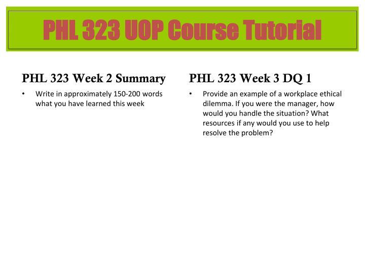 PHL 323 Week 2 Summary