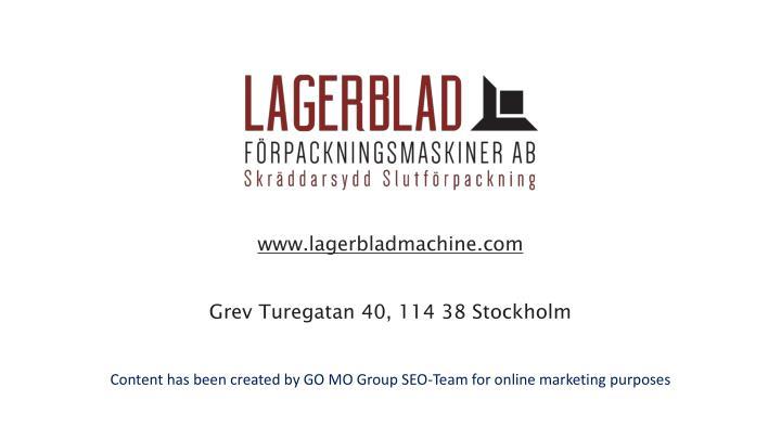 www.lagerbladmachine.com