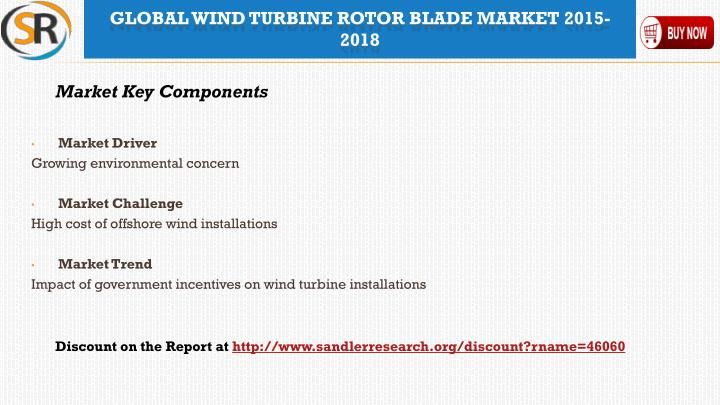 global wind turbine rotor blade market Wind turbine rotor blade market report covers the present scenario and the growth prospects of the wind turbine rotor blade industry for 2018-2022.