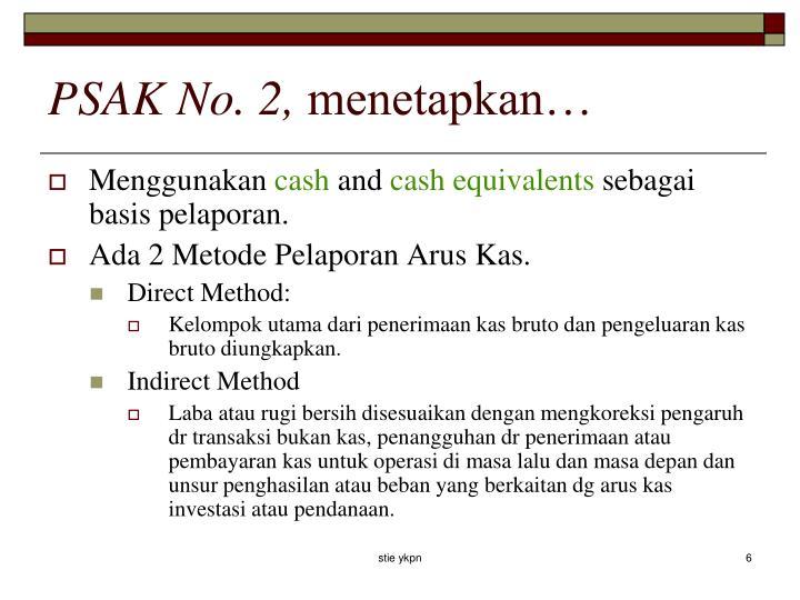 PSAK No. 2,