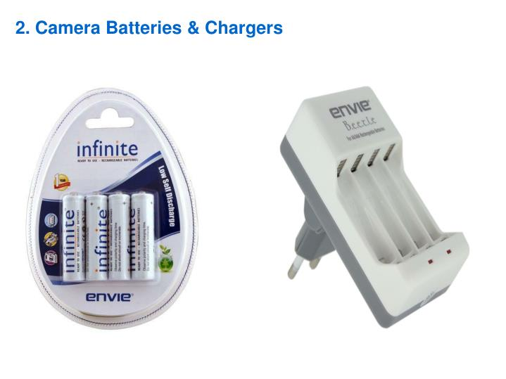 2. Camera Batteries & Chargers