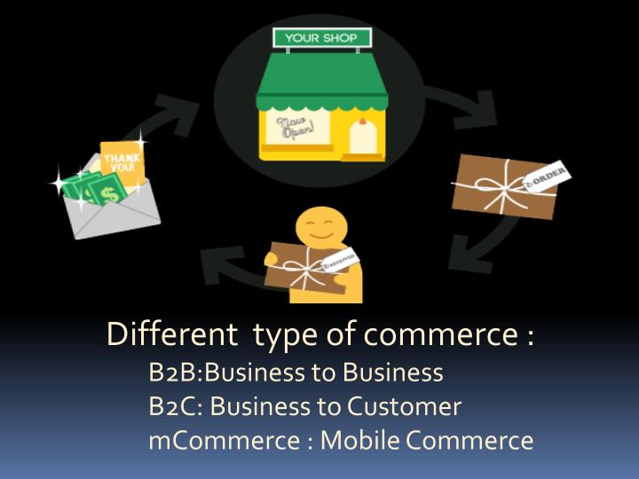 Different  type of commerce :