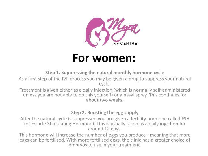 For women: