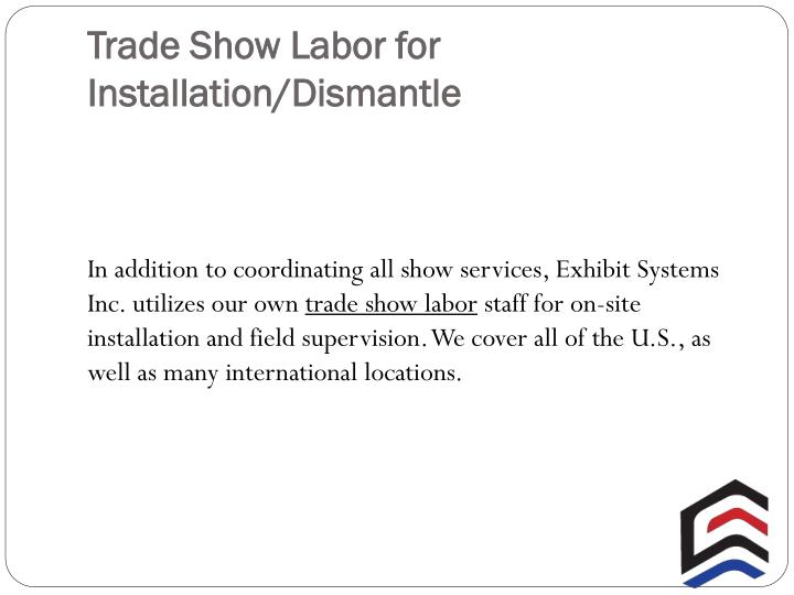 Trade Show Labor for