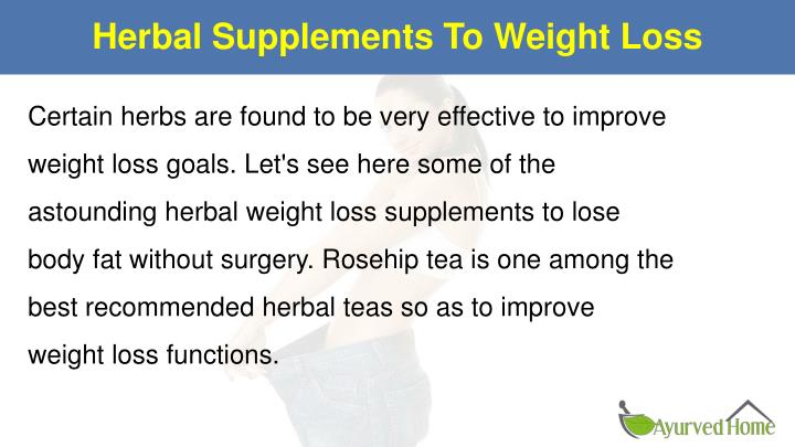 Herbal supplements to weight loss1
