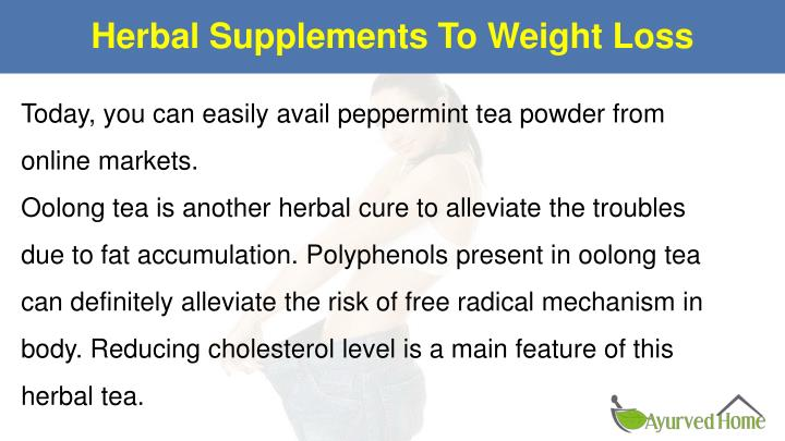 Herbal Supplements To Weight Loss