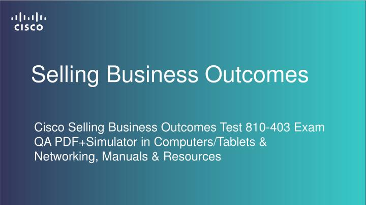 Selling Business Outcomes