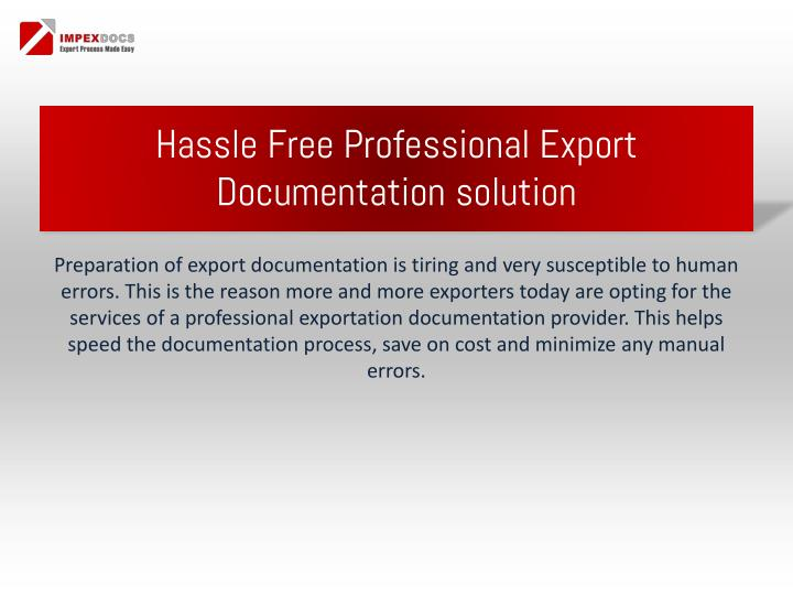 Hassle free professional export documentation solution1