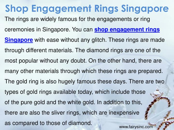 Shop Engagement Rings Singapore