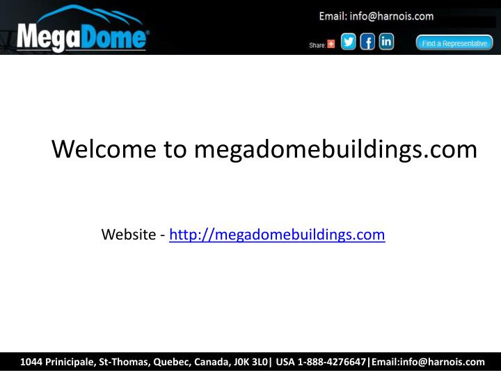 Welcome to megadomebuildings.com