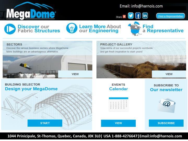 1044 Prinicipale, St-Thomas, Quebec, Canada, J0K 3L0| USA 1-888-4276647|Email:info@harnois.com