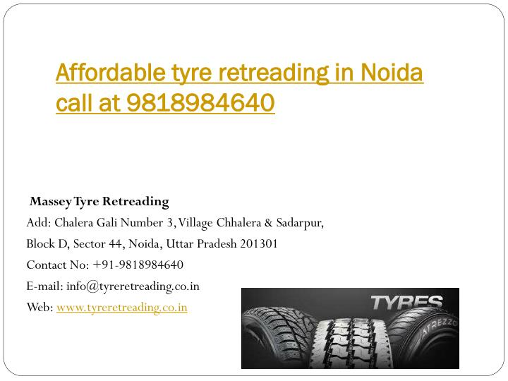 Affordable tyre retreading in Noida