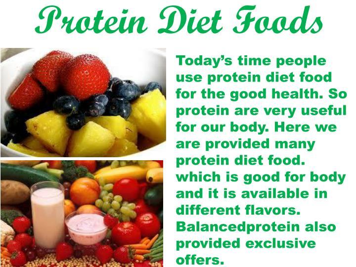 Protein Diet Foods