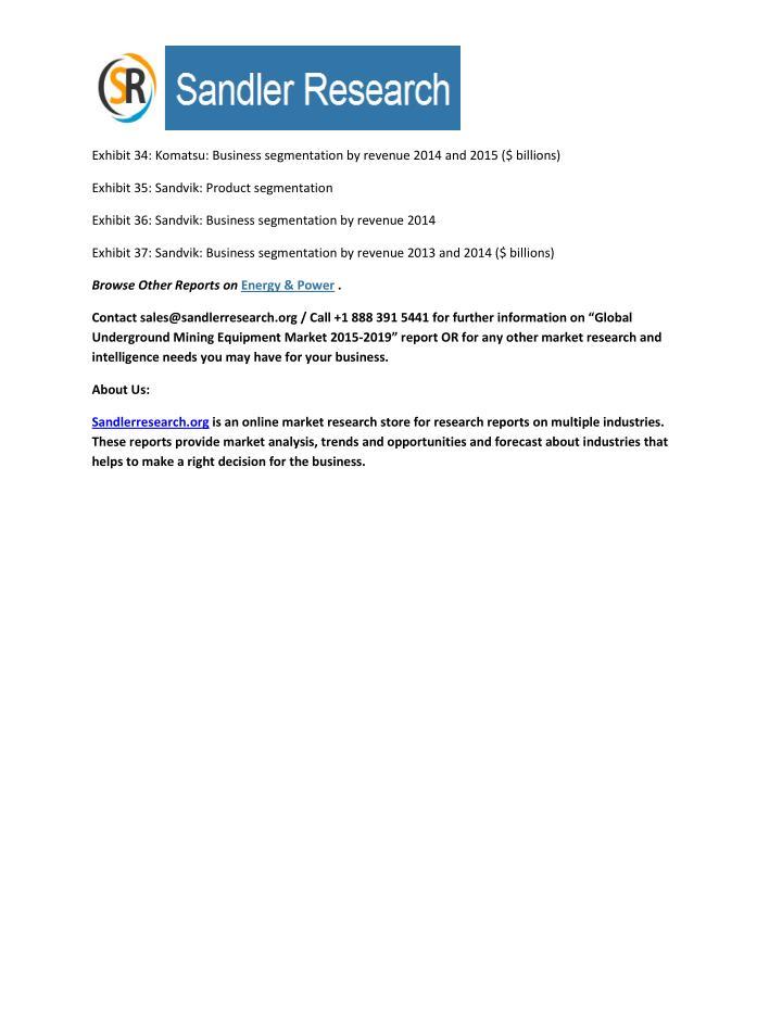 Exhibit 34: Komatsu: Business segmentation by revenue 2014 and 2015 ($ billions)
