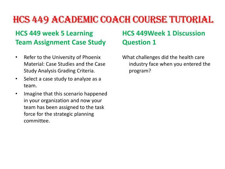 HCS 449 Academic